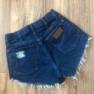 💥 Retro Boho High Waisted Wrangler Cut Off Shorts